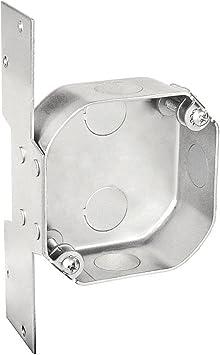 1 Pc Weatherproof Outdoor 4 In Octagon Fan Box 1 1 2 In Deep 3 1 2 In Side Knockouts 5 1 2 In Bottom Knockouts W Bracket G60 Galvanized Steel Powder Coated Silver Amazon Com