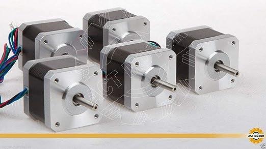 ACT Motor GmbH Nema17 17HS4417 Motor paso a paso, 5 piezas, 1.7 A ...