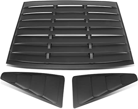 L//R Quarter Side Window Louvers Sun Shade Cover For Ford Mustang Coupe 3Pcs Vintage Style Rear