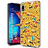 TalkingCase Clear Thin Gel Phone Case for Samsung Galaxy A10E,SM-A102U,Square Emojis Crowd,Light Weight,Ultra Flexible,Soft Touch,Anti-Scratch,Designed and Printed in USA