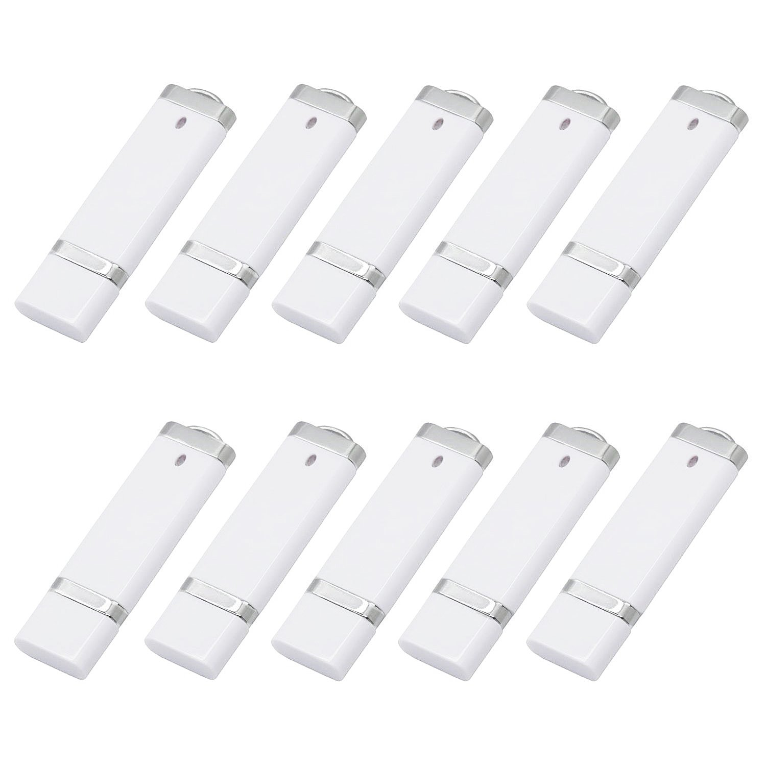 KEXIN 50pcs 4G USB Flash Drive - Bulk Pack - Flash Drive Design in Snapcap 4GB White by KEXIN