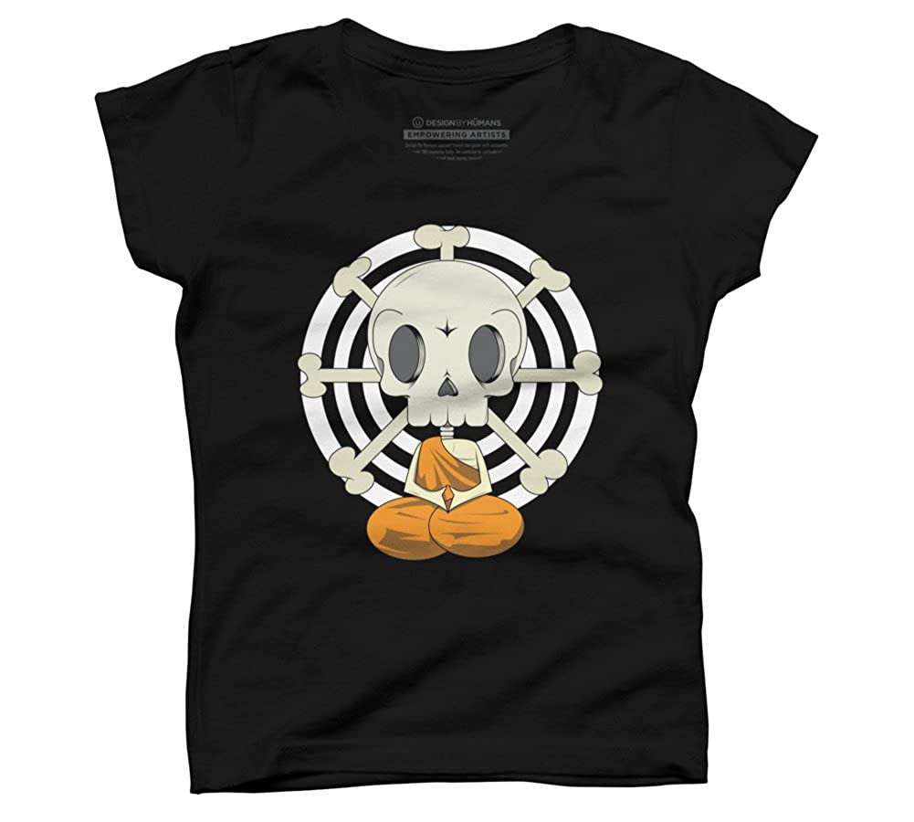 Bone Monk Girls Youth Graphic T Shirt Design By Humans