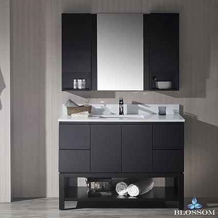 48 vanity mirror rustic blue bathroom blossom 0004802s monaco 48quot vanity set with mirror and amazoncom 48