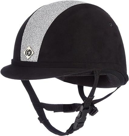 Charles Owen YR8 Riding Hat Black//Black Sparkle