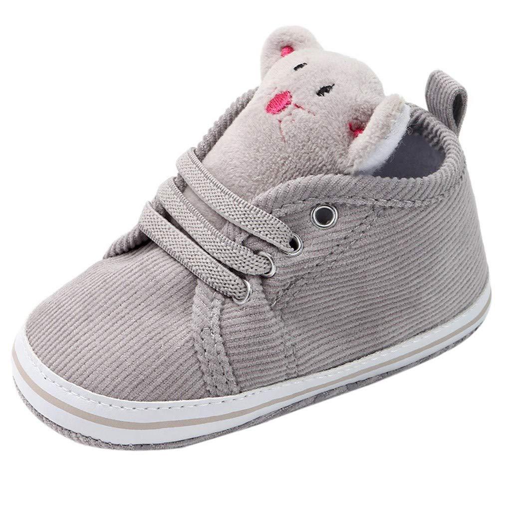 Newborn Baby Girls 3-18 Months Cartoon Cute Anti-Slip First Walkers Soft Sole Shoes