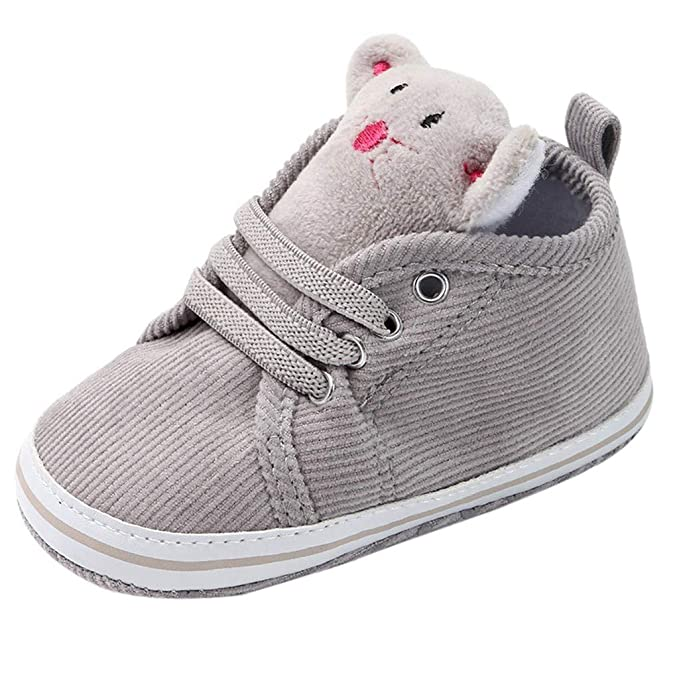 9e6099615 Baby Girls Boys Canvas Shoes Soft Sole Cartoon First Walker Infant Lace Up  Sneakers Crib Shoes