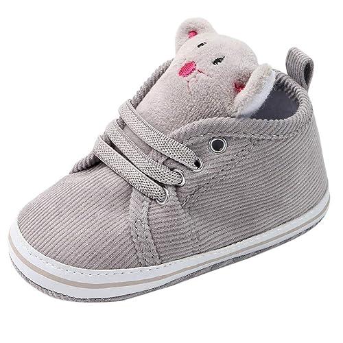 Mitlfuny Invierno Otoño Unisex Calzado Zapatos de Lona Primeros ...
