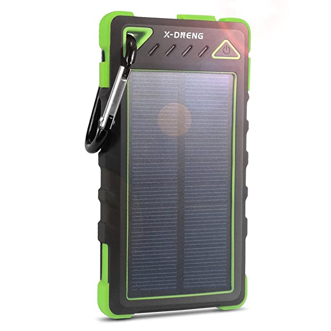 Cargador portátil, cargador solar, x-dneng Solar Power Bank Dual ...