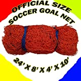 ONE OFFICIAL SIZE SOCCER GOAL NET NETTING 24' x 8' x 4' x 10'