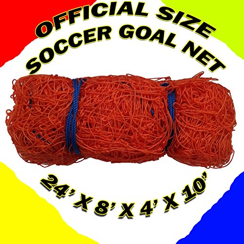 - Orono Sports ONE Official Size Soccer Goal NET Netting 24' x 8' x 4' x 10'