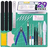 Swpeet 29Pcs Gundam Modeler Basic Tools with Duty