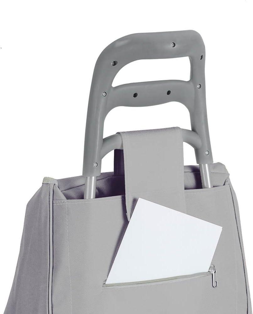 Metal Metaltex Krokus Shopping Trolley with 2/Wheels 120/x 60/x 6/cm 120x60x6 cm grey
