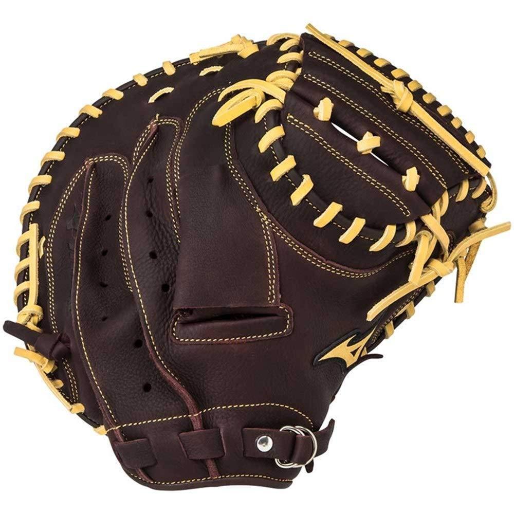 トレーニング スティックとソフトボールグローブキャッチャー野球グローブの右投げ(左手着用)33.5インチ ボクシンググローブ 褐色