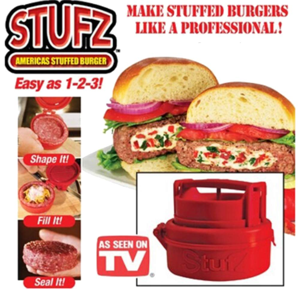 Bonaweite Stuffed Burger Press Kit 3 in 1, Non Stick Stufz Hamburger Maker, Homemade Patties & Sliders, Patty Molds, Veggie Hamburger Press Shaper, Best Burger Press Set