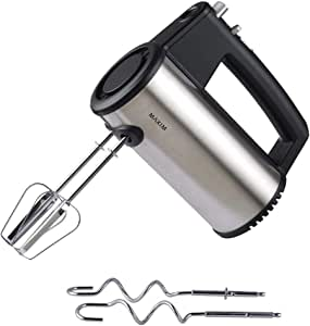 Maxim 250W Stainless Steel Kitchen Electric Hand Mixer Beater/Whisk w/Dough Hook