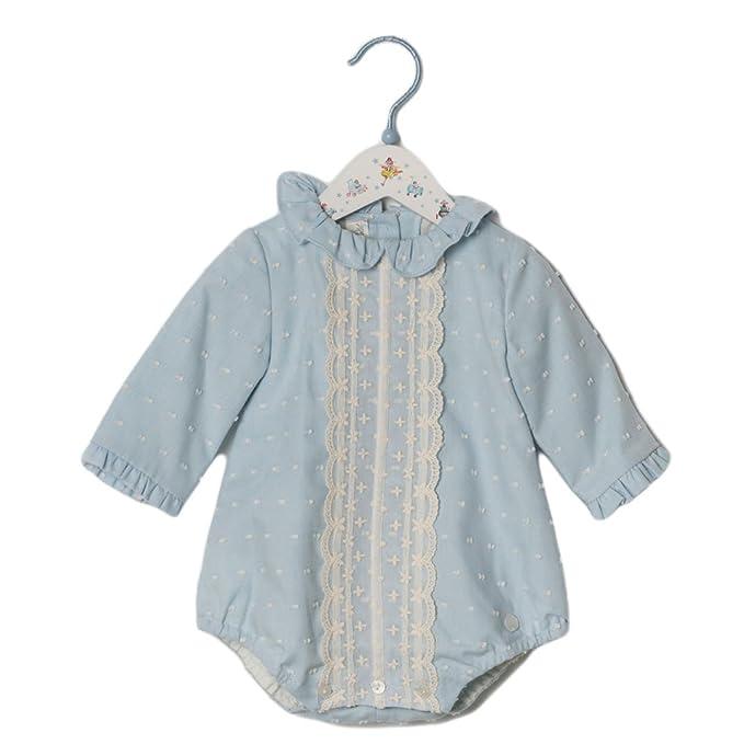 DOLCE PETIT - Pelele BEBÉ bebé-niños Color: Celeste Talla: 3M