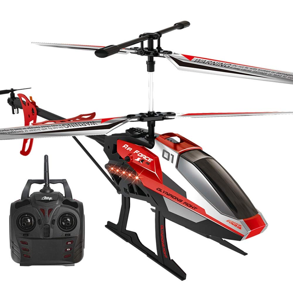 Kikioo Huge New Resistance To Falling Radio Remote Control Aircraft RC 3.5 Channel Rc Helicopter Airplane Stable Easy To Learn Good Operation Boy Toy With LED Lights Best Gift For Kids Beginner Adults