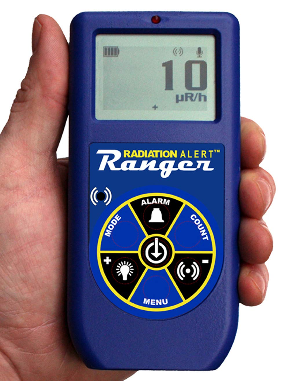 Radiation Alert Ranger Radiation Detector | 2'' Geiger Muller Detector | Bluetooth with Free Observer BLE App | Protective Boot | Excellence in Radiation Detection