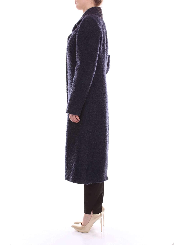 Season Outlet Blumarine Luxury Fashion Womens 14652BLUE Blue Coat