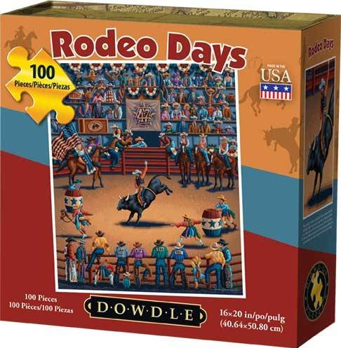 - Jigsaw Puzzle - Rodeo Days 100 Pc By Dowdle Folk Art