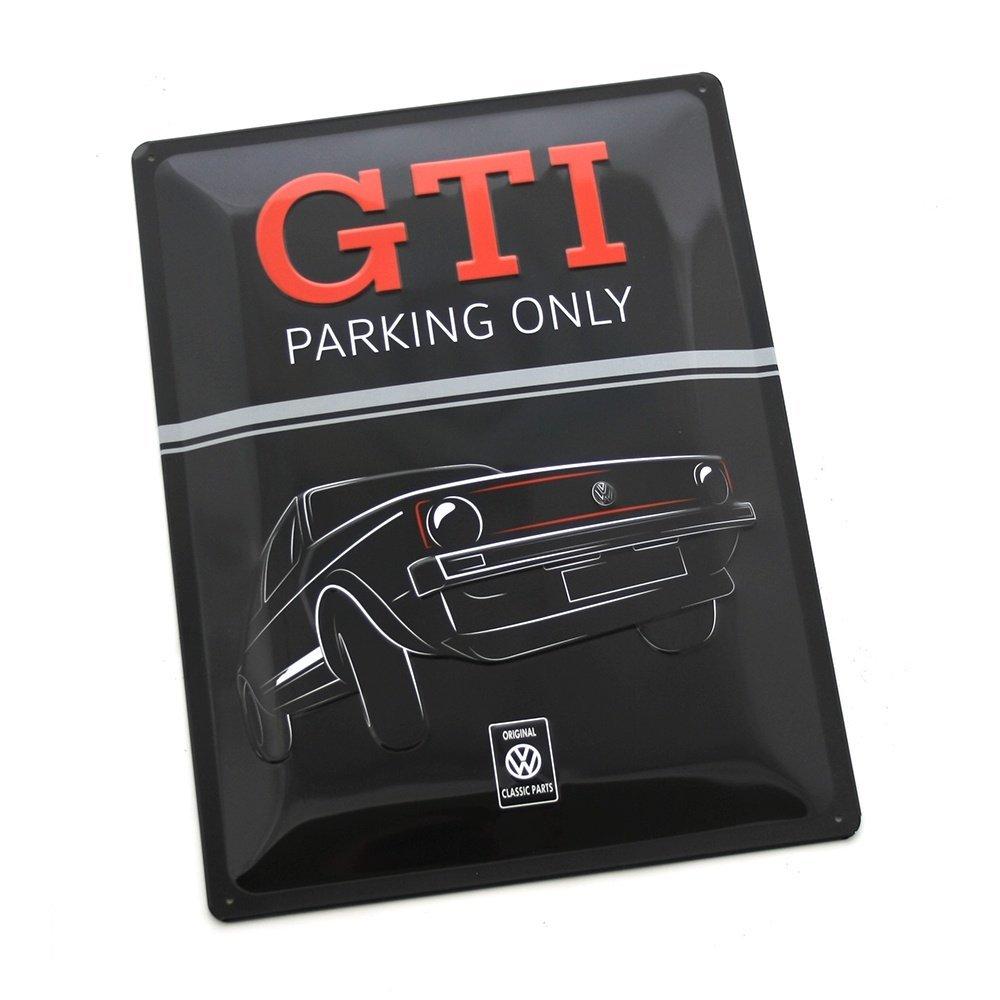 Volkswagen Classic Parts ZCP902905 Original GTI Targa in Metallo Parking Only
