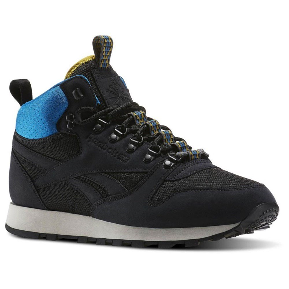 71a3a0777bec Reebok - Classic Leather Mid BC - AQ9665 - Color  Black-Blue-White - Size   11.0  Amazon.ca  Shoes   Handbags