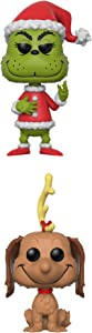 Funko Books: POP! The Grinch Collectors Set - Santa Grinch, Max The Dog Action Figure