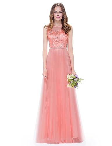 Ever Pretty Women's Sleeveless Lace Bridesmaid Dress 08895