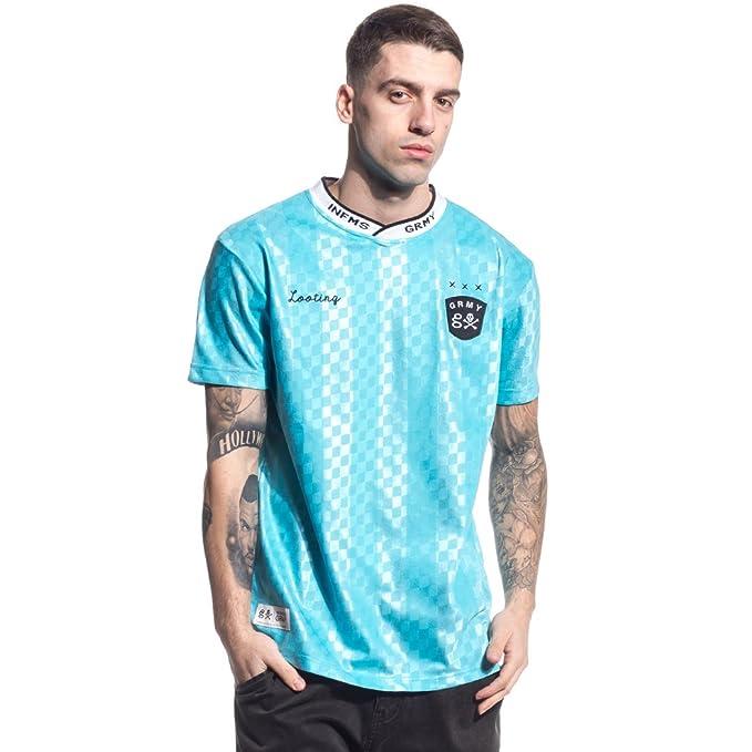 Grimey Camiseta Pampanga Soccer tee SS17 Blue-XS: Amazon.es: Ropa y accesorios