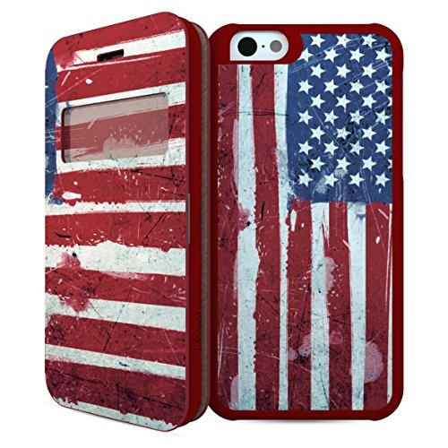 i-Paint Double Case Coque pour iPhone 6 Motif Drapeau Etats-Unis Rouge/Bleu