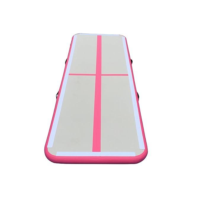 Amazon.com: Colchoneta de gimnasia inflable a aire para el ...