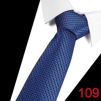 KYDCB Mens 7.5Cm Moda Blanco Negro Corbatas Pink Plaid Tie ...