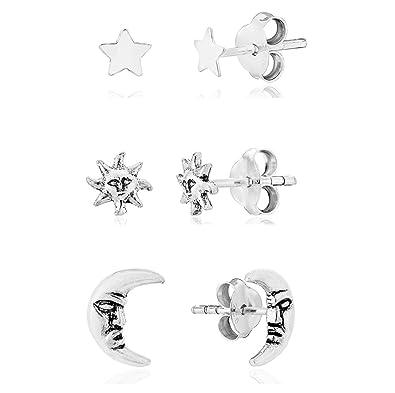 neuer Lebensstil langlebig im einsatz Farben und auffällig DTPsilver - Damen - Ohrringe 925 Sterling Silber - Mann im ...