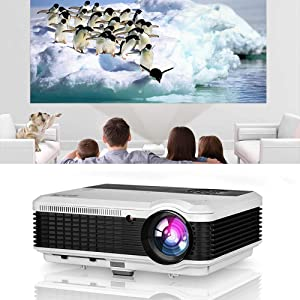 Video Projector with HDMI, 4800 Lumens LED LCD Digital HD Home Movie Projector with Built-in Speaker,HDMI,USB,VGA,AV, Audio Out, Zoom,Keystone, for Phone DVD PC Laptop Firestick TV PS4 Gaming Outdoor