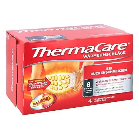 Pfizer Thermacare - Bandas térmicas lumbares (talla S-XL, 4 unidades)