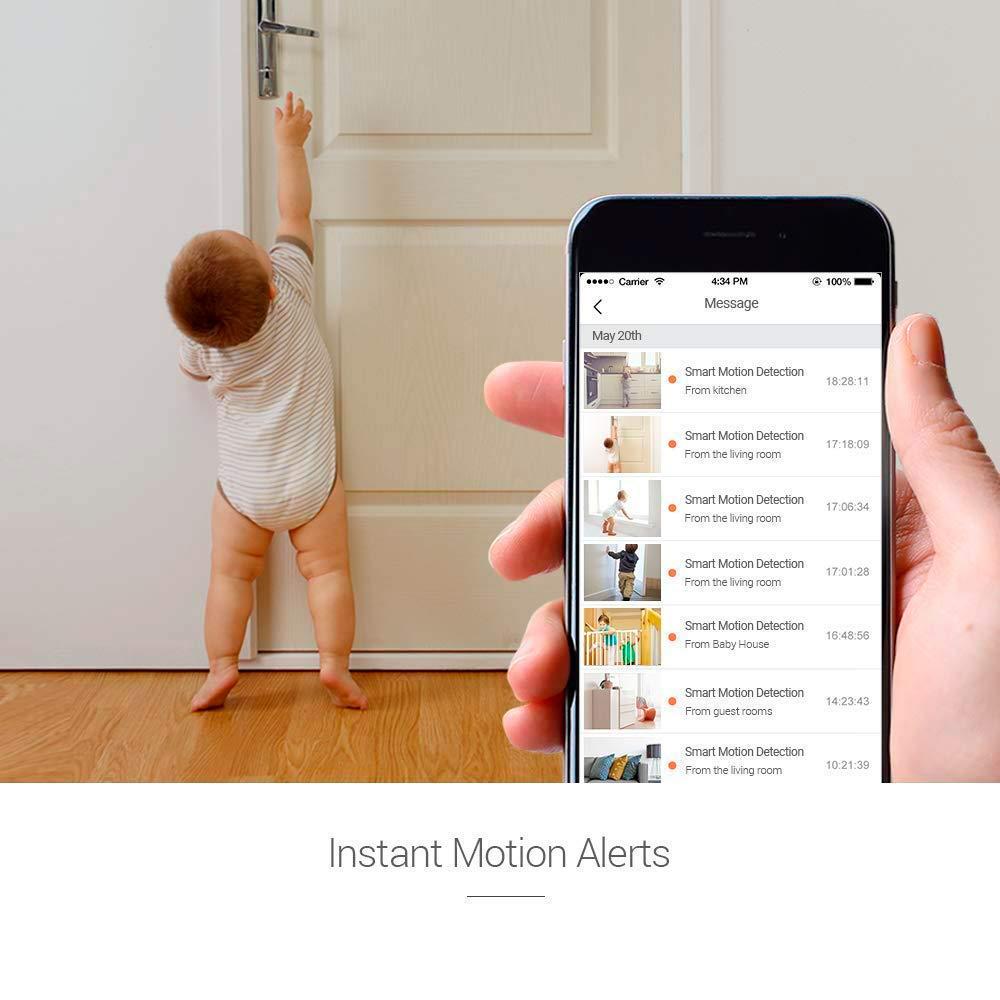 EZVIZ ezCube Pro 1080p IP Cámara de Seguridad, 2.4 GHz WiFi Cámara de Vigilancia Audio Bidireccional, Visión Nocturna, Monitor de Bebé, Servicio de ...
