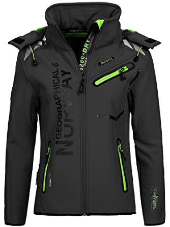 Geographical Norway Damen Softshelljacke Romantic dark grey/green S