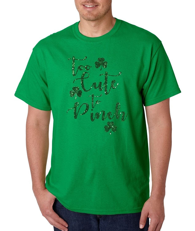 St Patricks Day Too Cute to Pinch Irish T-shirt Proud Irish Shamrock Shirts