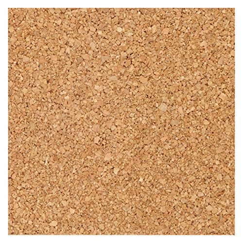 Quartet Natural Cork Tiles for Bulletin Boards, 6 x 6 Inches, 4 Tile Pack (11-150252Q)