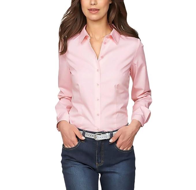 5426405928d5 Mujer Camisas Manga Larga Elegantes Oficina Negocios Ejecutiva Blusa ...