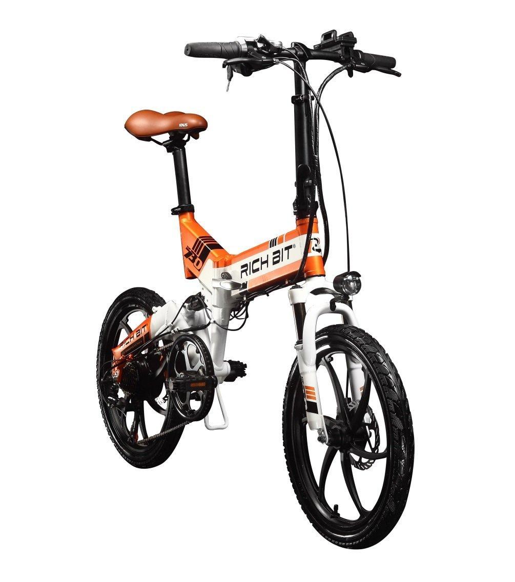 XHN復古型 20インチ 折りたたみ 電動自転車 復古型 シマノ7段変速 ペダルアシスト 三色 B079CGKX4D オレンジ オレンジ