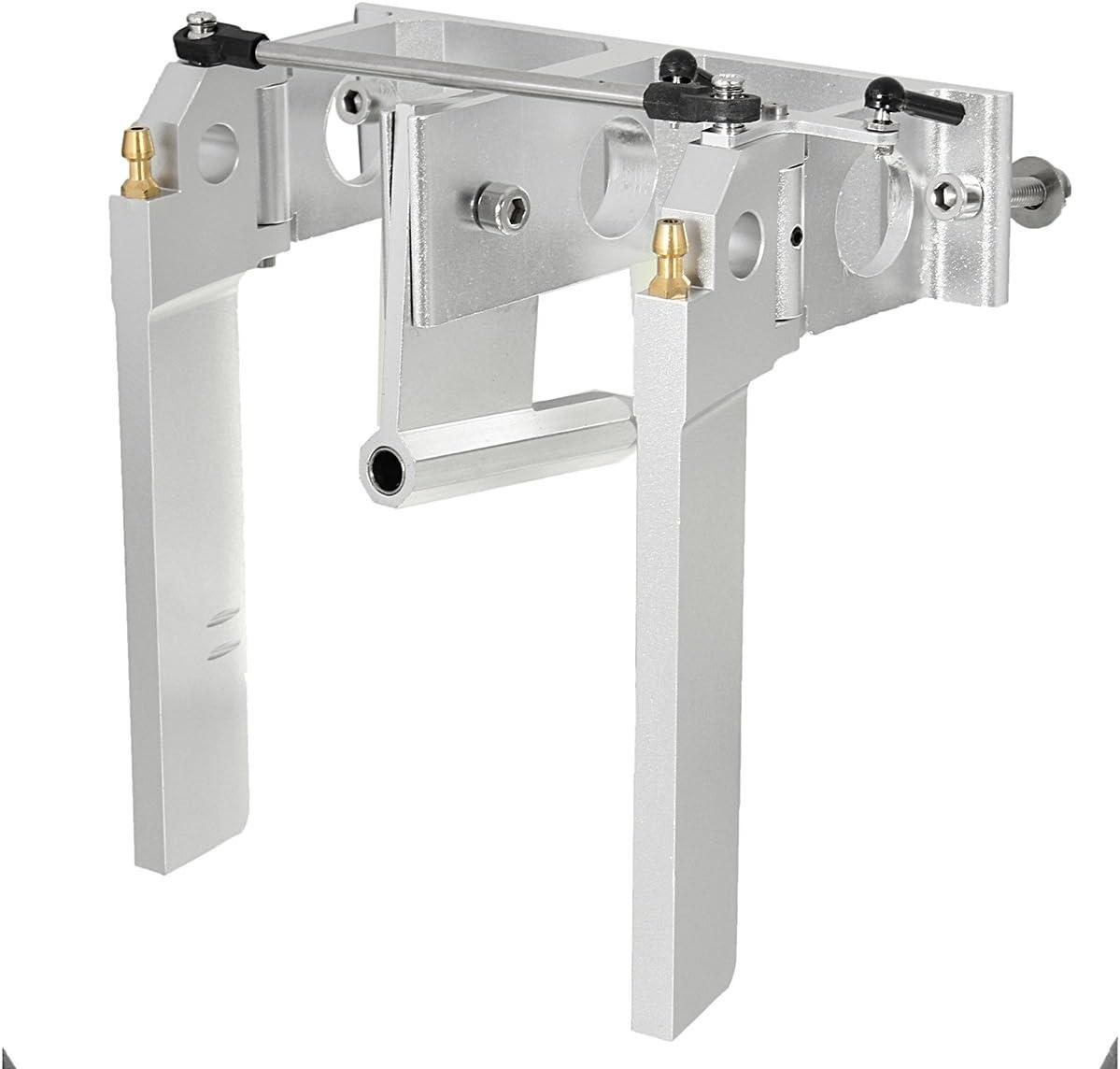 HELEISH Timón Doble de Aluminio for 1/4 Eje Barco RC Piezas de Montaje de Bricolaje: Amazon.es: Juguetes y juegos