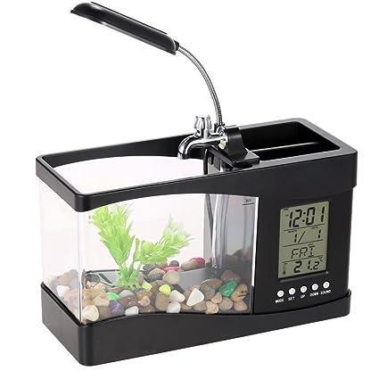 Anself LED Pecera acuarios de peces tanque de pescados de LCD ...
