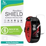 [6-Pack] RinoGear for Samsung Gear Fit2 Pro Screen Protector [Active Protection] Full Coverage Flexible HD Crystal Clear Anti-Bubble Film