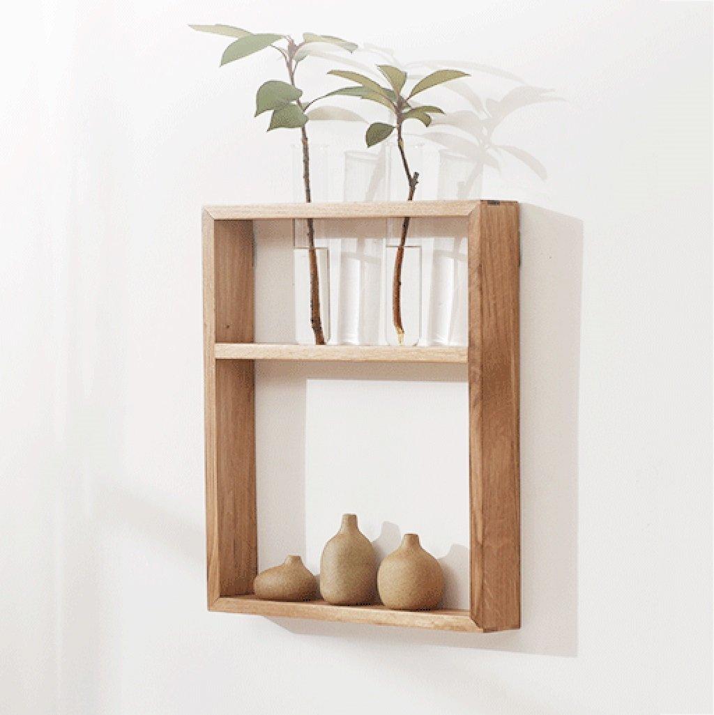 PM-Borders Wood Shelf Wall Mount Assembling Wall shelf Floating Shelf TV Wall Decorative Frame (DIY assembly&Load 10KG) (Size : B)