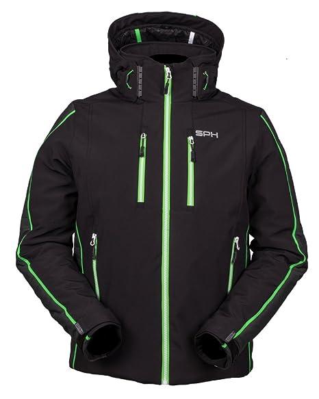 giacca nero verde uomo
