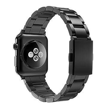 Simpeak Correa Compatible con Apple Watch Series 5/Series 4/Series 3/Series 2/Series 1 Correa 42mm de Acero Inoxidable de Banda de la Muñeca con Metal ...