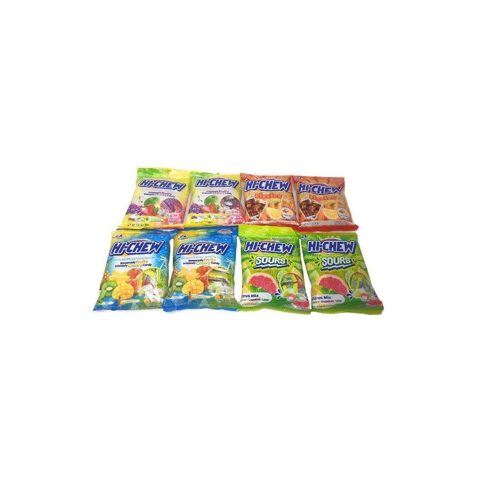 Hi Chew Peg Bag Bundle-Chewy Fruit Candy Bundle Assorted Flavors 8 Bags featuring 4 Varieties by Hi-Chew