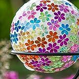 Goose Creek Colorful Mosaic Glass Gazing Ball 10'',Brights