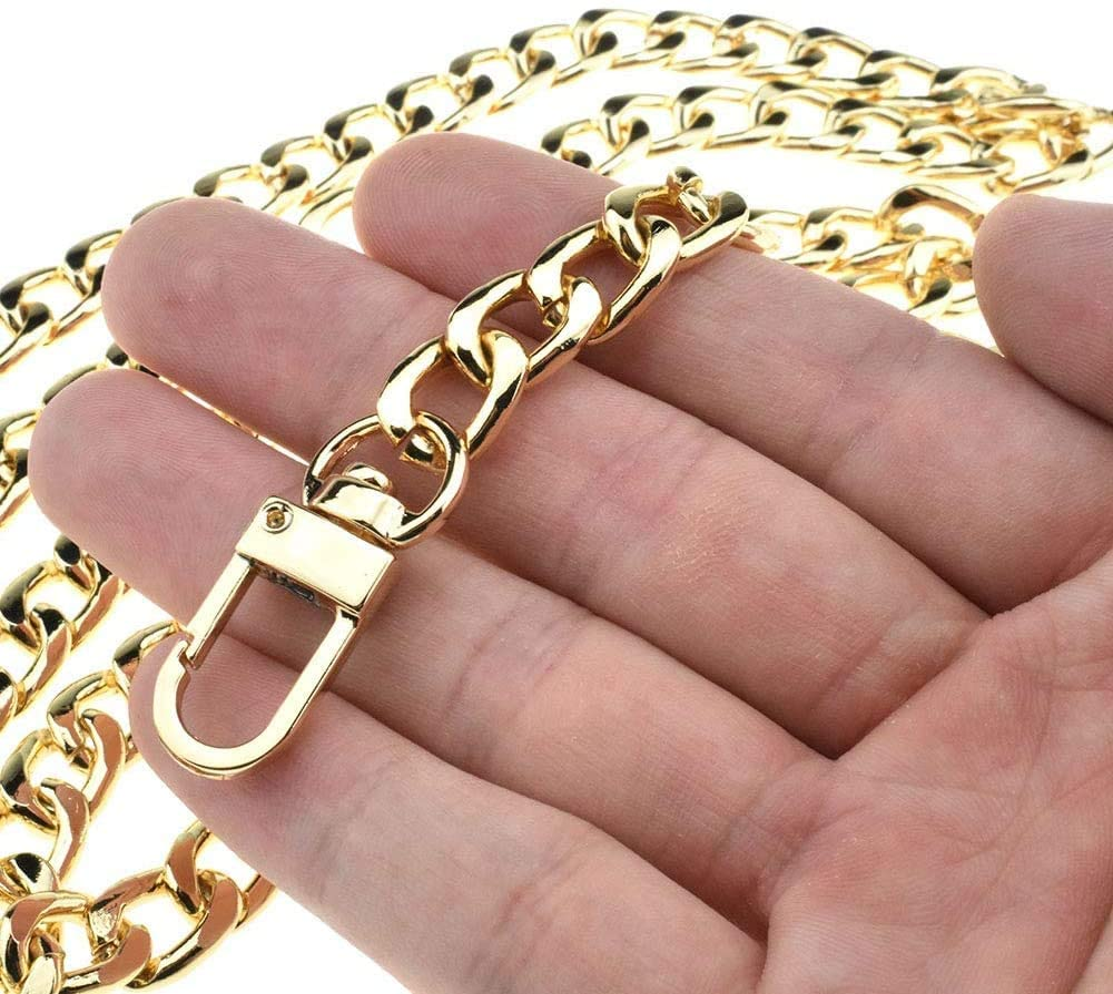 HAIOPS Purse Chain DIY Handbag Strap 15.75 inches Long Metal Accessory Replacement Chain Strap